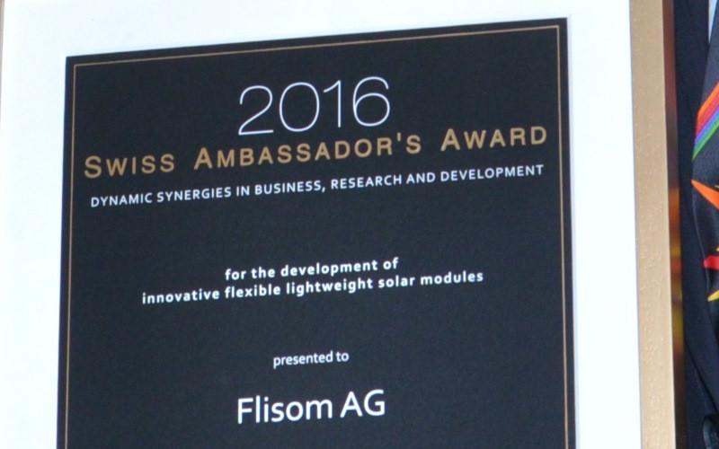 2016 Swiss Ambassador's Award