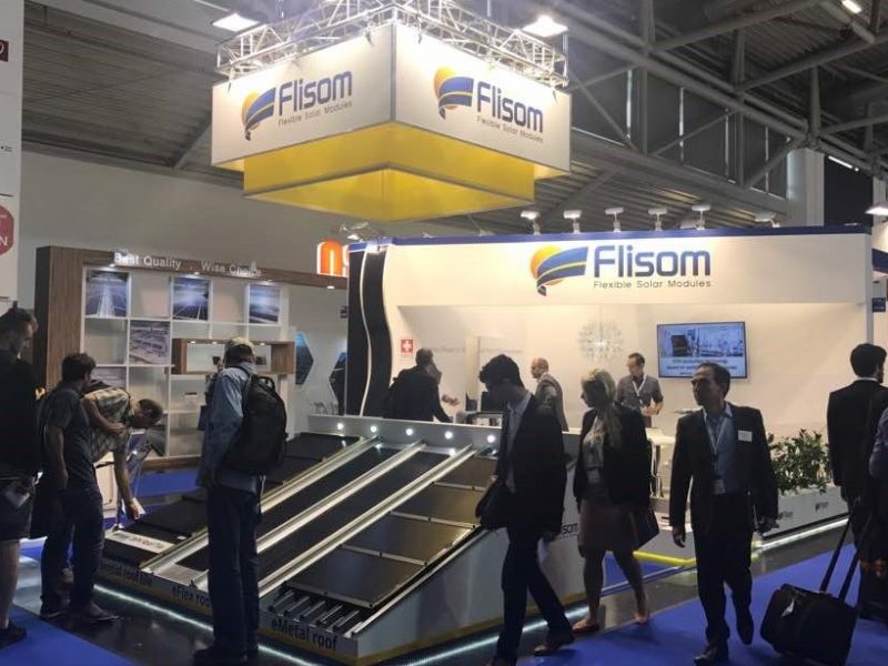 Flisom flexible solar intersolar booth