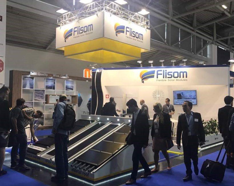 Flisom flexible solar intersolar booth