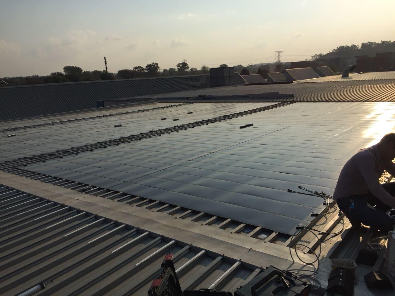 eFlex on lighweight metallic roof in South Africa