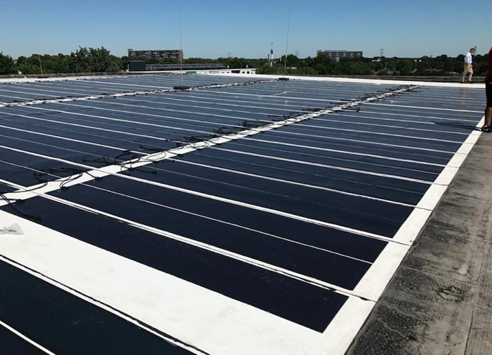 eFlex on bituminous flat roof